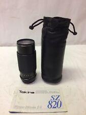 Tokina 80-200mm f4 Nikon AI Mount Manual Focus Zoom Lens SZ820 w/manual