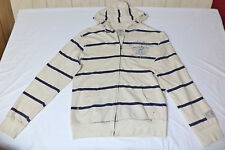 Disney Long Sleeve Cream & Blue Striped Zipper Front Hoodie    Small    L1712