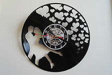 Love con Cuori Design Vinile Record Orologio Da Parete Camera da Letto Ufficio Casa Art Shop