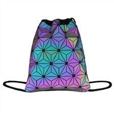 Drawstring Gym Bag School Library Swimming Travel Adults Kids Luminous Backpack
