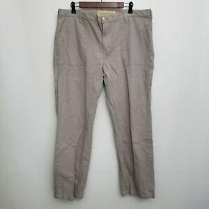 Cabelas Womens Hiking Pants  16 Brown Patch Pockets Cotton Canvas Loose Fit
