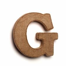 """The Country House Collection Decorative Burlap 7"""" Letters - G"""