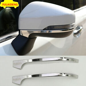 2PCS For Subaru XV 2018-2021 stainless Car Rearview Side Mirror Strip Cover Trim