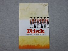 Risk Board Game 2003 Edition Officer's Command Manual Instruction Book Only