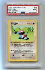 1999 Pokemon 1st Edition Base Set Shadowless Porygon 39/102 PSA 9 MINT