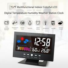 Indoor LCD Digital Temperature Humidity Meter Weather Station Alarm Clock U9G8