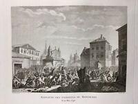 Montauban en 1790 Révolution Française Rare Gravure Tarn et Garonne