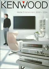 Kenwood Katalog Prospekt 2003/'04 KRF-X9995D KRF-X9070D DVF-J6050 DVT-6200