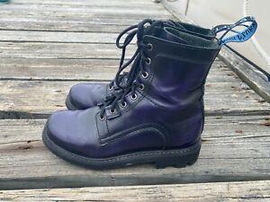 John Fluevog purple lace up boots size 7 1/2