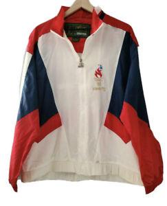 Vintage 1996 Atlanta Olympics Georgia Windbreaker Jacket Starter 90s Size Large