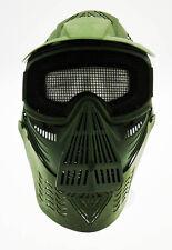Maschera softair protezione totale verde + collo