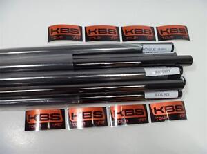 NEW KBS TOUR  BLACK NICKEL X-STIFF FLEX IRON SHAFTS 4-PW .355 TAPER TIP SET
