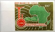 KONGO BRAZZAVILLE 1967 139 U C57 UAMPT Post Postal Union Map Karte Afrika MNH