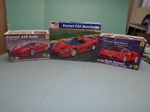 Revell 1/24 Ferrari Model Car Junk Yard Lot, Appears they are complete,