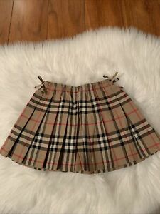 burberry kids pleated skirt 18 month baby girl nwot cute