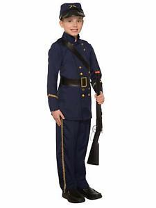 Civil War Soldier Union Blue Military USA Fancy Dress Halloween Child Costume