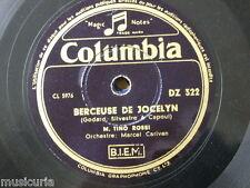 78 rpm TINO ROSSI berceuse de jocelyn / tristesse [ chopin ]