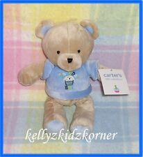 Carters Birthday Boy Teddy Bear Blue Plush Baby Toy Lovey Lovie Cake New NWT