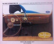 """1936 Ford Interior"" Illustration 8x10 Reprint Garage Decor"