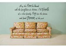 """HOME LAUGHTER WARMTH HOPE MEMORIES Wall Quote Lettering Words Decal Sticker 36"""""""