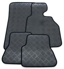 Perfect Fit 3mm Thick Rubber Car Mats for Nissan Micra 02> - Black Ribb Trim