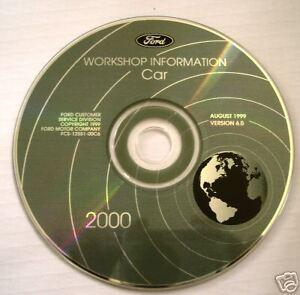 2000 Ford Factory Car Manual On CD-Rom Focus LS Mustang