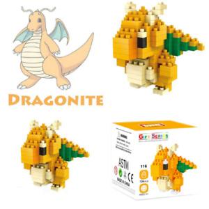 Dragonite Pokemon Nintendo Nanoblock 3D Puzzle Toy Mini Micro Block 194 Pieces