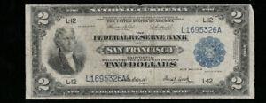 SC 1918 $2 Fr.778 Battleship **KEY DISTRICT** San Francisco, California