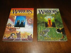 Erin Hunter lot of 2 softcover books Warriors