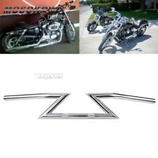 """Chrome 1"""" Drag Handlebar Z Bar for Harley Davidson XL 883 Hugger Sportster"""