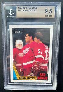 1987-88 O-Pee-Chee Adam Oates rookie, BGS 9.5! NHL Hall of Famer!