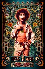"""Jimi Hendrix Tribute Poster - 11x17"""" - Vivid Colors"""