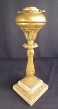 1830-50's Martha Washington Cameo Pre-Kerosene Coal Oil Solar Table Lamp (2)