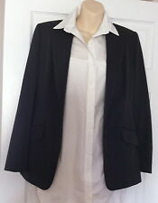 NEXT Ladies Wool Blend Grey Pinstripe Trouser Suit ~ Size 10 -12