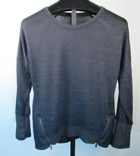 Active Life Womens Size XL Light Pullover Zip Accent Sweater Shirt Gray