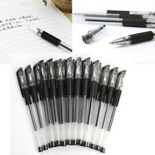 New 0.5mm Black Gel Ink Rollerball Ballpoint Pen Office & School Supplies 12Pcs
