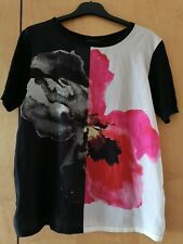 Topshop Poppy Flower Print Satin Chiffon T-shirt Blouse Missguided S 8
