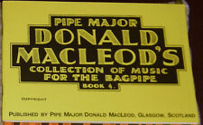 P/M Donald MacLeod book 4 of tunes for the great highland bagpiping piping