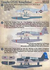 Print Scale Decals 1/72 VOUGHT OS2U KINGFISHER Floatplane & Land Plane