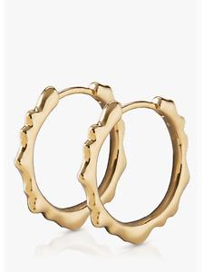 Monica Vinader Siren Muse Small Hoop Earrings, 18ct Gold Plated Vermeil