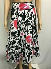 AERO SIZE 10 PANELED FLORAL A-LINE  COTTON SKIRT