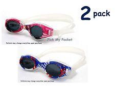 Speedo Junior Hydrospex Swim Goggle Vibrant PINK / BLUE - 2 pack
