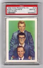 PSA 10 BUDDY HOLLY and THE CRICKETS 1959 Kane Products Disc Stars Card (1 of 1)