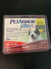 Pet Armor plus for Dogs 89-132 lbs. 3 Applications New Sealed Ticks Flea Eggs