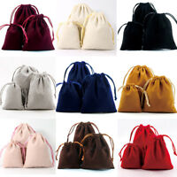 Wholesale High Quality Velvet Jewellery Gift Bags Drawstring Pouches Xmas Party