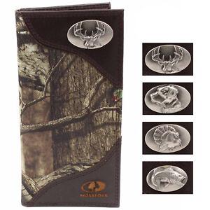 ZEP-PRO Mens Mossy Oak Nylon/Leather Wildlife Concho Wallet