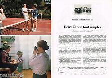 PUBLICITE ADVERTISING 055  1980  CANON  appareil photo  A 35 F & CANNONET 28 (2p