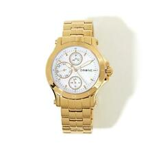 DRONE PRECISION TIMEPIECES MOTHER-OF-PEARL DIAL GOLDTONE BRACELET WATCH HSN $219