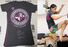 Livia Renata Souza Signed Invicta FC 17 Fight Used Worn Walkout Shirt PSA/DNA S