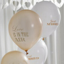 10 Just Married Wedding Balloons - Helium Quality or Air